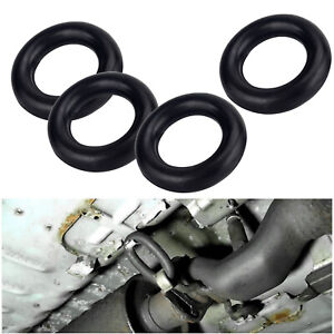 4pcs Exhaust Rubber Hanger Insulator Mount Muffler Bushing Support O Ring Kit