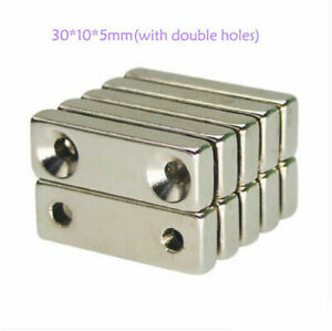 1 100pcs N35 Strong Neodymium Rectangular Magnets With Double Hole Magnets