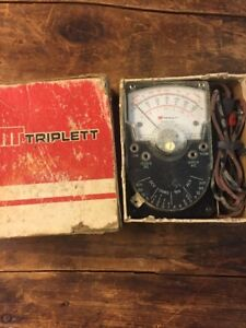 Vintage Triplett Model 310 Type 2 Ohm Meter W Leads