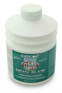 Evercoat 414 Metal Glaze Oem 30 Oz Premium Finishing Putty W 28g Cream Hardener