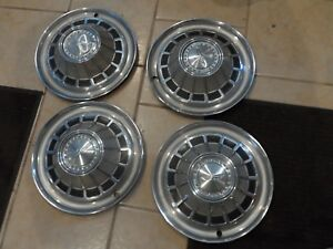 1966 66 67 Amc Ambassador Hubcap Set Of 4 14 Hot Rod Wheel Cover Rim