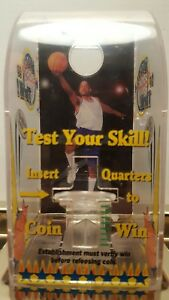 Nos Shoot To Thrill 25 Basketball Coin Shooter Tabletop Coin Bank Machine