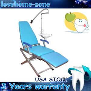Dental Portable Foldable Chair Set Built In Water Supply System W Cuspidor Tray