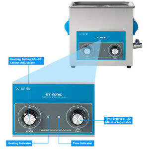 6l Capacity Tank Heater Bath Timer Ultrasonic Cleaner For Professional Cleaning