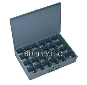 Metal Storage 24 Bins Drawer Tray Steel Parts Nuts Bolts Fasteners Screws