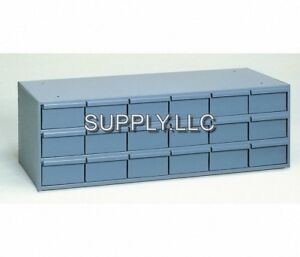 Steel Bin Shelving 18 Drawer Cabinet Parts Fittings Nut Bolt Storage Garage Shop