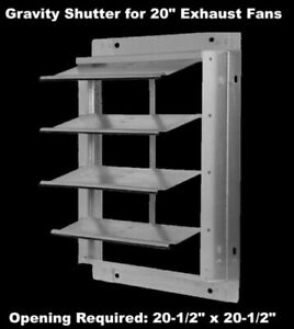 Gravity Shutter For 20 Exhaust Fans Wall Mount Damper Backdraft Aluminum Blades