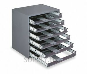 6 Bin Tray Drawer Cabinet Compartments Parts Fittings Shop Metal Storage