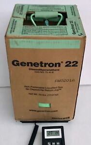 Genetron R22 Refrigerant 21 Lbs 9 Oz In Partial 30 Lb Tank In Box