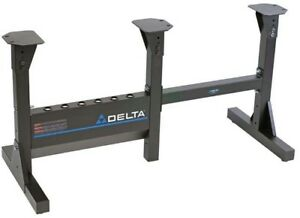 Delta Midi Lathe Bed Extension Stand 21 Lb Mobile Stable Support Silver