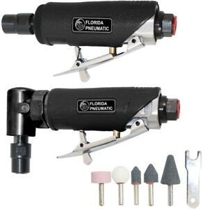 Florida Pneumatic 1 4 Inches Straight Right Angle Die Grinder Combo Kit Air Tool