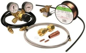 Lincoln Electric 100 Wire Feed Welder Mig Conversion Kit Gas Regulator New