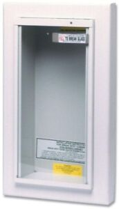 Commercial Fire Extinguisher Wall Glass Cabinet Semirecessed Home Security Kidde