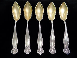 Towle Empire Pattern Sterling Silver 925 Grapefruit Spoons Lot Of 5