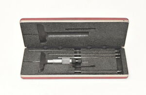 Starrett 449 Depth Micrometer 2 5 Base W case