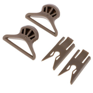 Tactical Goggle Swivel Clips Set for ARC Fast ACH Helmet Side Rails Tan