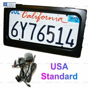 1pc Us Hide Away Shutter Cover Up Electric Stealth License Plate Frame W Remote