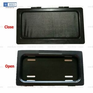 1 Set Hide away Shutter Cover Up Electric Stealth License Plate Frame Remote Kit