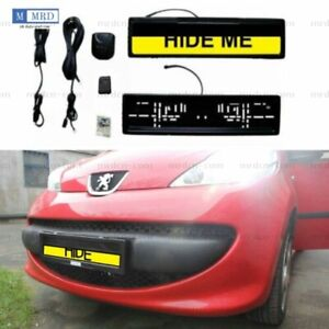 Euro Hide Device Stealth License Plate Car Number Roller Shutter Protect Cover