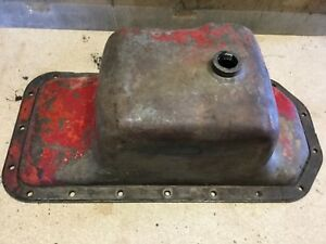 Ih Farmall Gas H Super H 300 Tractor Engine Crankcase Oil Pan