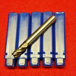 1 4 Tialn Carbide Variable Helix Lot Of 5 Performance End Mill 4 Flute Endmill