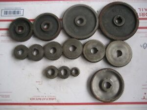 Hendey Lathe Cone Head 12 And 14 Main Gears Box Gears 12 Gears 60 00 For One