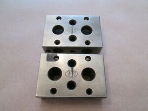 Moore Tool 1 2 3 Blocks Set Of Two 2 Nice Condition