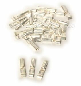 Anderson Powerpole Silver Plated 15 Amp Contacts For 14 20 Ga Wire 50 Pack