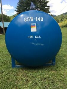 475 Gallon Heavy Wall Steel Tank with Gear Pump or Make A Huge Smoker Or Grill