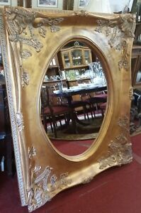 Large Oval Mirror Or Portrait Rectangular Gold Frame 57 X 46 75