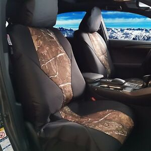 For Toyota Tacoma 1999 2019 Front Seat Cover Camo Black Low Bucket Seat