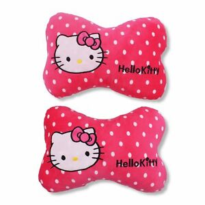 Finex Set Of 2 Hello Kitty Carseat Head Neck Rest Support Bone Pillow With Strap