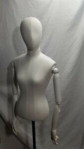 Mannequin Bust Torso Body Head Articulated Wooden Arms Tailor Sewing Photos