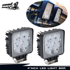 2pcs Led 48w 12v 24v Work Light Flood Light Off Road Atv Suv Boat For Jeep Truck
