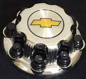 8 Lugs New Chevy Yellow Express Van 2500 3500 Chrome Center Hub Cap One Pc Only