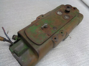 John Deere 40 Instrument Panel Housing With Dash And Hydraulic Pipes