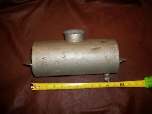 Vintage 1 Gallon Stove Fuel Cell Tank Original Round Universal Heavy Gauge Steel