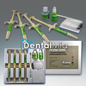 Primedent One step Orthodontic Adhesive Bonding System Kit 4x5g Paste Syringes