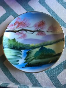 Beautiful Hand Painted Japanese Ornamental Plate 4 Check Pictures