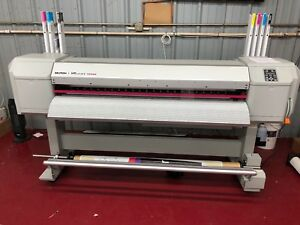 Mutoh Valuejet 1628x 64 Large Format Color Printer With Stand Take Up Reel