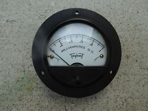 Vintage Triplett Dc Milliamperes Meter Model Measure 0 1 Ma Gauge
