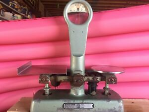 Vintage Detecto Gram Scale Model 74 05 Up To 3 Lbs Retro Green Brooklyn Usa