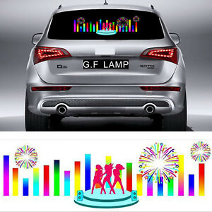 90x25cm Car Music Rhythm Led Sticker Light Kit Sound Activated Equalizer 12v