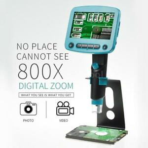 1920 1080 720p Usb Digital Microscope For Industry Soldering Lcd Display Y4s2