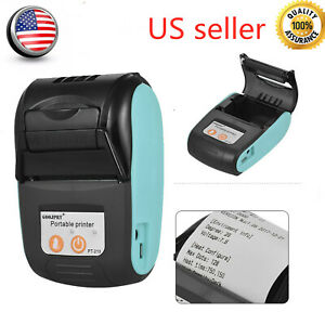 Mini 58mm Thermal Receipt Paper Bt Receipt Printer Pos For Wins Ios Android F6x4