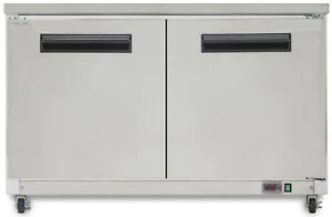 Chef s Exclusive 48 Wide 2 Solid Door Commercial Undercounter Sub Zero Freezer
