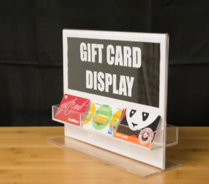 6 Pocket Acrylic Clear Business Cards gift Card Holder Countertop Display Rack