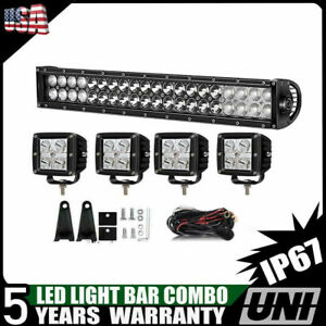 22inch 120w Cree Led Light Bar Combo black Series With Wire Rocker Switch