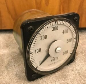 Ge General Electric 103021rssj Ac Volt Meter 0 600