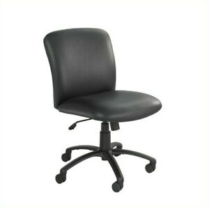 Scranton Co Big And Tall Mid Back Armless Task Office Chair In Black Vinyl